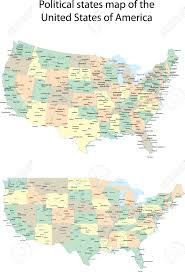 United State Of America Map by Vector Political States Map Of The United States Of America