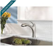 Pfister Cantara Single Handle Pull by Stainless Steel Clairmont 1 Handle Pull Out Kitchen Faucet F