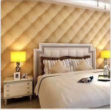 Wallpaper For Bedroom Walls New Modern 3d Wallpaper Bedroom Wall Imitation Leather Sofa Shape