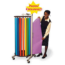 roll dispensing racks pacon creative products pacon rotary rack with 20 rolls of 48