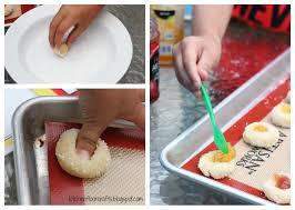 kitchen floor crafts kids cook jam thumbprint cookies