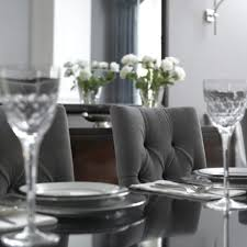 grey dining room chair dining room round glass dining table