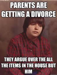 parents are getting a divorce they argue over the all the items in