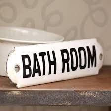 bathroom signs for home doorje
