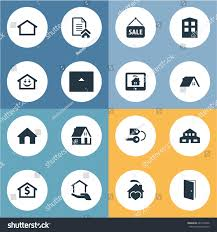 Synonyms Comfort Vector Illustration Set Simple Real Icons Stock Vector 685134436