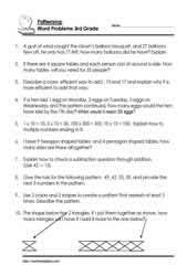 grade 3 word problemsworksheets