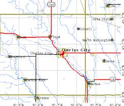 iowa map with cities charles city iowa ia 50616 profile population maps
