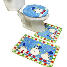 Christmas Bathroom Rugs Amazon Com Snow Time Holiday Snowman Bath Rug Home U0026 Kitchen