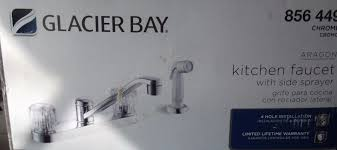 glacier bay aragon kitchen faucet with side sprayer in chrome 856