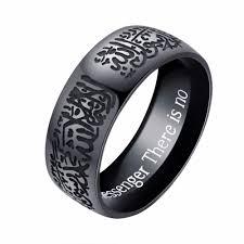 silver ring for men islam muslim allah shahada one stainless steel ring for men islam