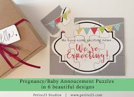 pregnancy baby announcement puzzle we u0027re expecting