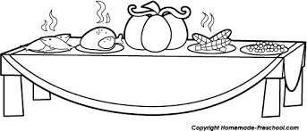 thanksgiving clipart thanksgiving meal pencil and in color