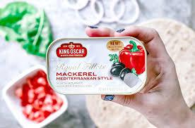 King Oscar Sardines Mediterranean Style - mediterranean mackerel protein wrap killing thyme