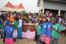 children of cross river state celebrates christmas party with wife