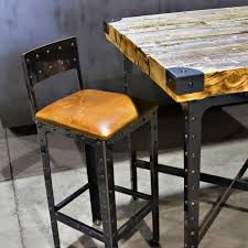 High Table Chairs Hand Made Industrial Pub Height Table U0026 Bar Stools By Basin Custom