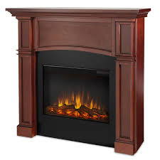 decorating chic isokern fireplaces with wood frame in brown for