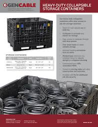 Secure Storage Container Cable Storage Bin With Lid Wires U0026 Cords Gencable