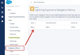 how to add custom tabs to lightning navigation menu salesforce