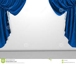 Blue Curtains Blue Curtains On A White Background Stock Photo Image 50104818