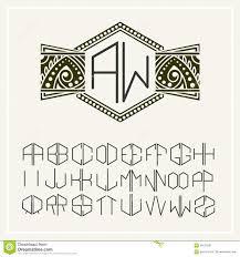 design logo elegant stylish monogram elegant line art logo design stock vector