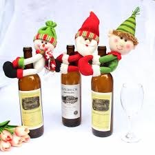 santa snowman wine bottle cover ornament