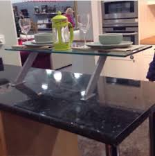 Glass Breakfast Bar Table Kitchen Glass Breakfast Bar Table Top Mounted Bars Dining Drinks