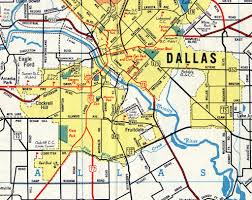 Dallas On Map by 1954 Map Of Oak Cliff And Dallas Coltera Flickr
