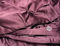 tahari home pintuck ruched duvet cover 3 piece set dark maroon