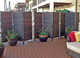 versare 3 panel wicker partitions are used to divide space and