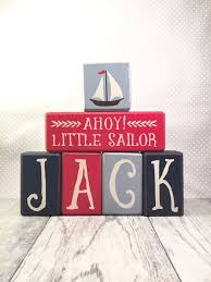nautical baby shower decor custom name wood sign letters