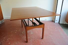 vintage height adjustable rosewood coffee or dining table for sale