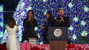 obama lights white house christmas tree for the last time the