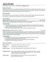 teaching resume template resumes for teachers exles exles of resumes