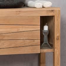 meuble sous vasque simple vasque en bois teck massif cosy