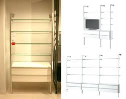 Modular Bookcase Systems Bookcase Stacked Arrangement Of Ikea Storage Boxes Under A
