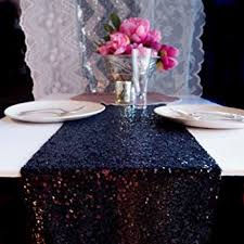 party table covers days black 12x50 sequin table runner party