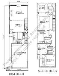 narrow house floor plans plan d6050 2321