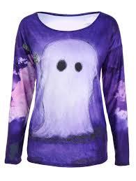 Halloween Tee Shirt by 3d Printed Halloween T Shirt Purple Xl In Long Sleeves