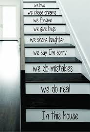 Stairs Quotes by Amazon Com In This House Stairs Decal Sticker Wall Vinyl Art Home