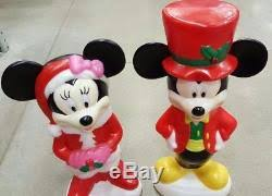 lighted mold mickey and minnie mouse yard decorations
