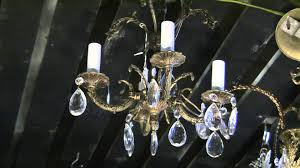 1950s Chandelier Chandelier Spanish Baby Brass Chandelier 1950 U0027s Era Youtube