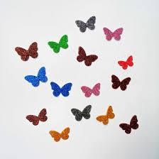 rs 40 2 butterfly glitter fomic sheet cuttings detail