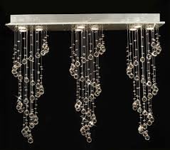 Modern Crystal Chandeliers For Dining Room by Modern Linear Crystal Chandelier U003e 330 00 Rain Drop Design Nine