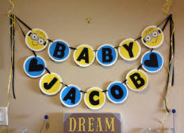 minions baby shower minion baby shower banner event minion