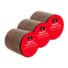 6 rolls brown buff packing tape parcel tape by speedy packaging