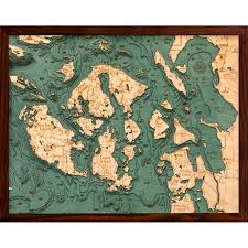 Topographic Map Seattle by Below The Boat San Juan Islands