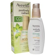 aveeno positively radiant cc cream spf 30 fair to light 2 5