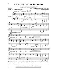 his eye is on the sparrow satb by d j w pepper sheet