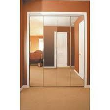36 Bifold Closet Doors Impact Plus 36 In X 80 In Beveled Edge Mirror Solid Mdf