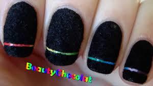 rainbow laser nail art black velvet nails bornprettystore